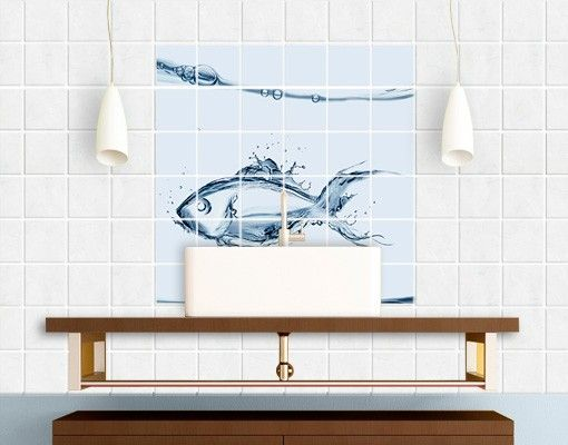 Fliesenbild - Liquid Silver Fish