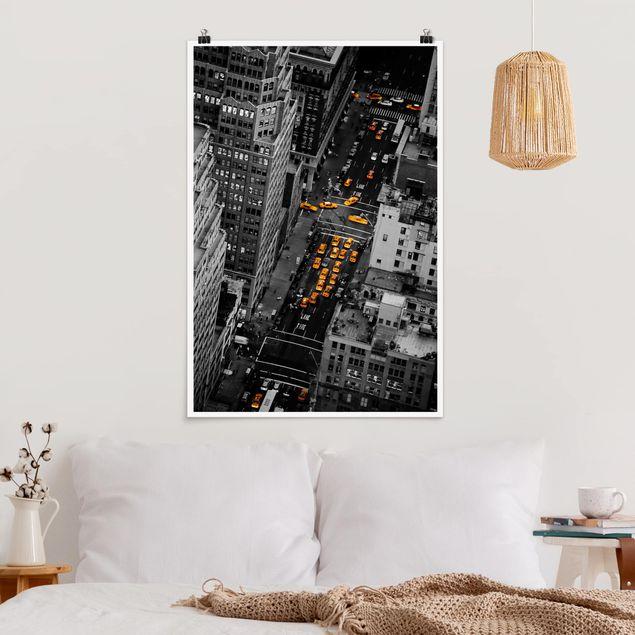 Poster - Taxilichter Manhattan - Hochformat 3:2