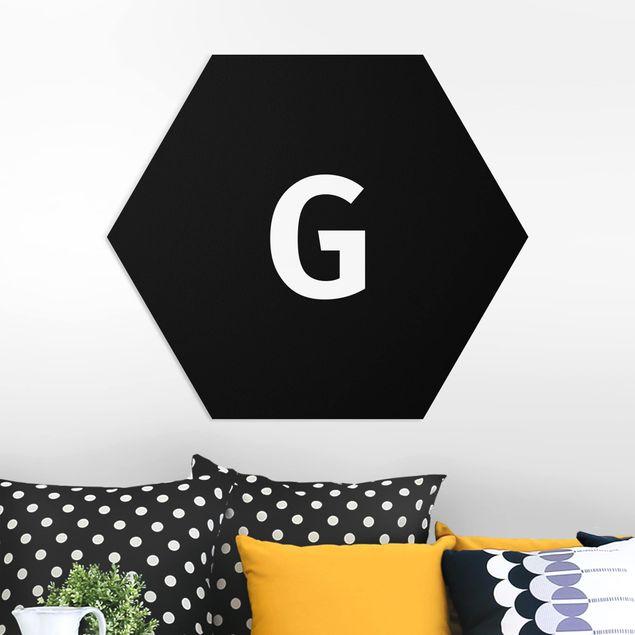 Hexagon Bild Forex - Buchstabe Schwarz G