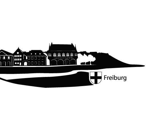Wandtattoo Skyline No.KS7 Skyline Freiburg
