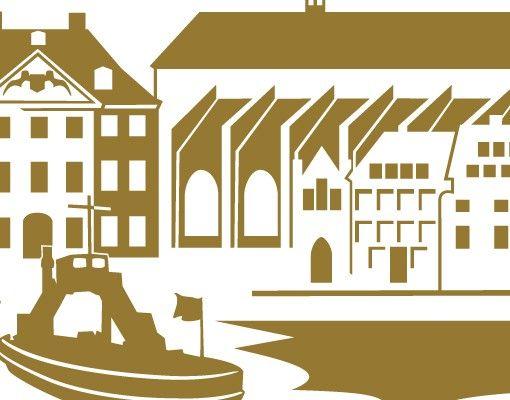 Stadt Stralsund - Wandtattoo Skyline - No.IS86 Skyline Stralsund Wandtattoo