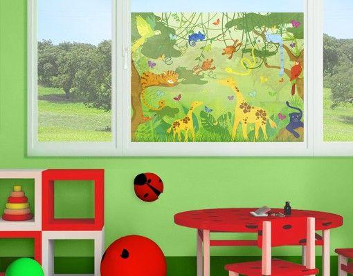 Fensterfolie - Sichtschutz Fenster No.IS87 Dschungelspiel - Fensterbilder