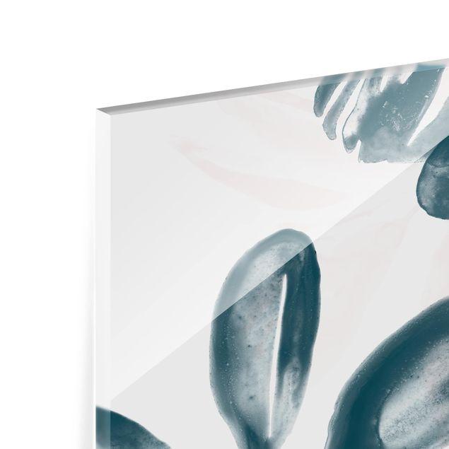 Glas Spritzschutz - Tropisches Orakel petrol I - Querformat - 4:3