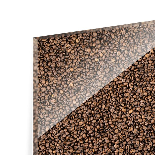 Glas Spritzschutz - Sea of Coffee - Quadrat - 1:1