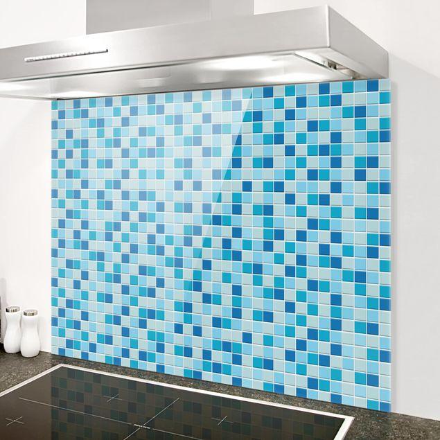 Glas Spritzschutz - Mosaikfliesen Meeresrauschen - Querformat - 4:3