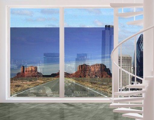 Fensterfolie - Sichtschutz Fenster Colorado-Plateau - Fensterbilder