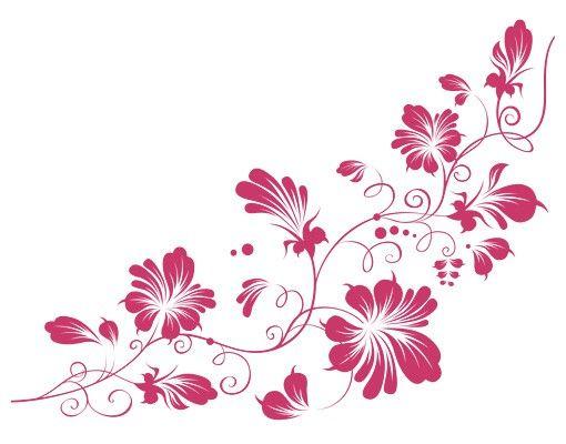 Wandtattoo Ranke Haken No.79 Tender Flower