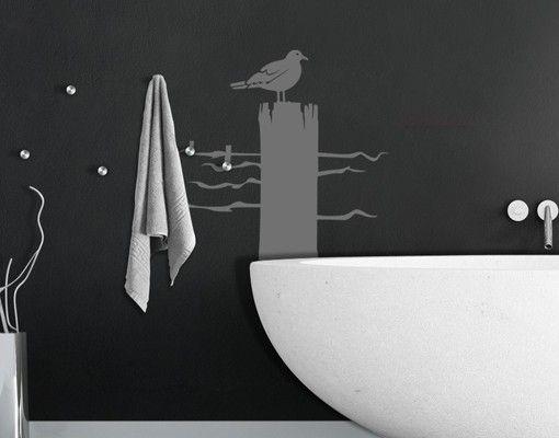 Wandtattoo Vögel Haken No.IS24 Einsame Möwe