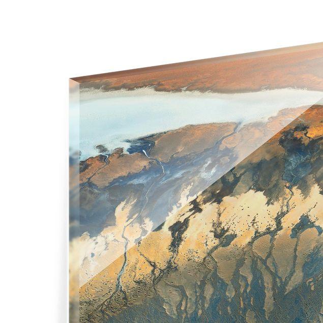 Glas Spritzschutz - Kalifornien aus der Luft - Querformat - 4:3