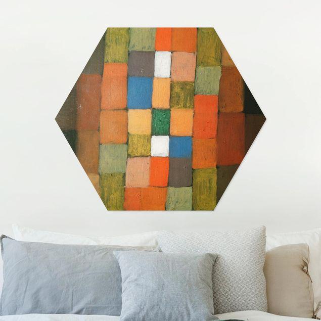 Hexagon Bild Alu-Dibond - Paul Klee - Steigerung