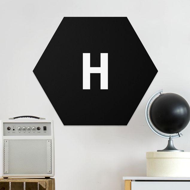 Hexagon Bild Forex - Buchstabe Schwarz H