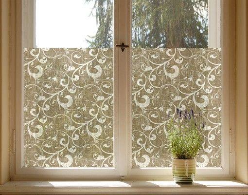 Fensterfolie - Sichtschutz Fenster Ornamentstruktur - Fensterbilder