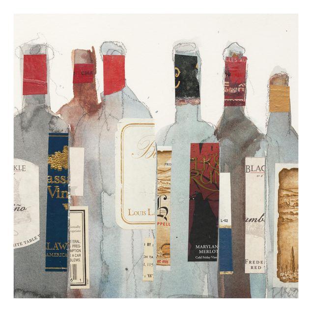 Glas Spritzschutz - Wein & Spirituosen I - Quadrat - 1:1