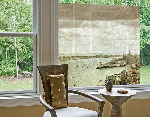 Fensterfolie - Sichtschutz Fenster Lagune von Venedig - Fensterbilder