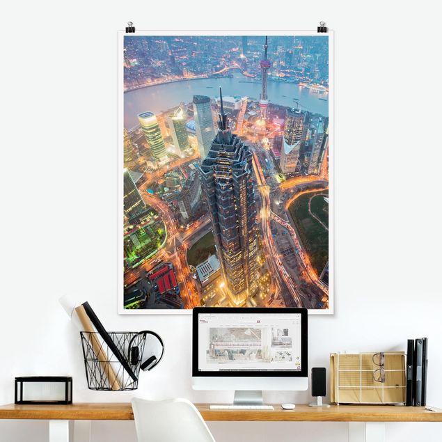 Poster - Shanghai - Hochformat 3:4