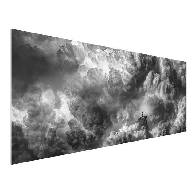 Forex Fine Art Print - Ein Sturm zieht auf - Panorama