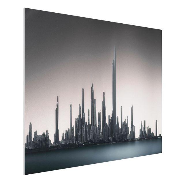 Forex Fine Art Print - Sonnenaufgang Kuwait - Querformat 3:4