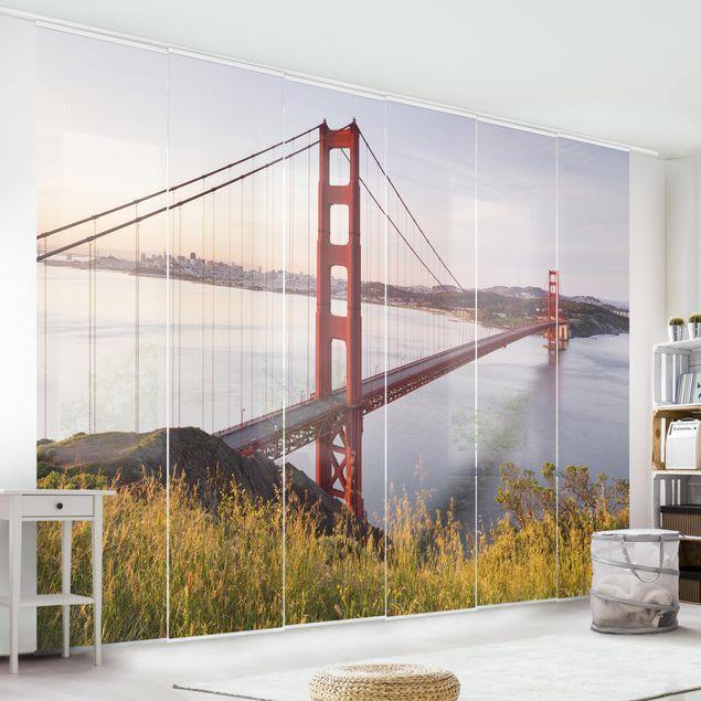Schiebegardinen Set - Golden Gate Bridge in San Francisco - Flächenvorhänge
