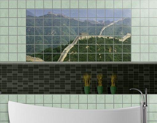 Fliesenbild - Die chinesische Mauer im Grünen