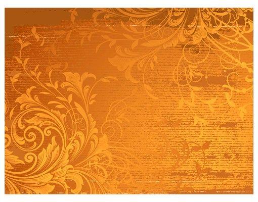 Fensterfolie - Sichtschutz Fenster Goldene Flora - Fensterbilder