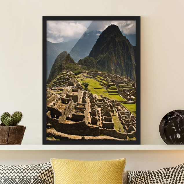 Bild mit Rahmen - Machu Picchu - Hochformat 3:4