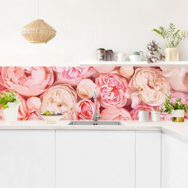 Küchenrückwand - Rosen Rosé Koralle Shabby
