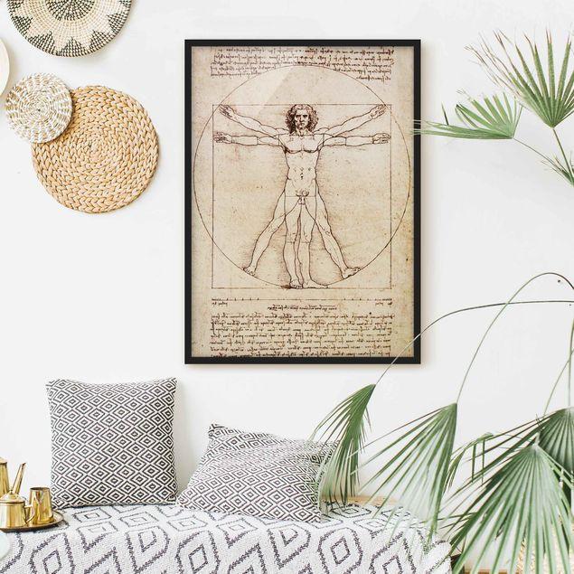 Bild mit Rahmen - Da Vinci - Hochformat 3:4