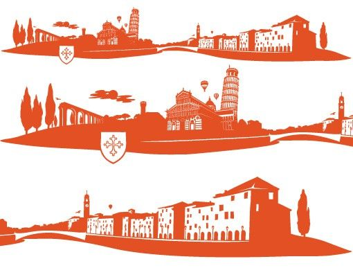 Wandtattoo Skyline No.FB75 Pisa Skyline