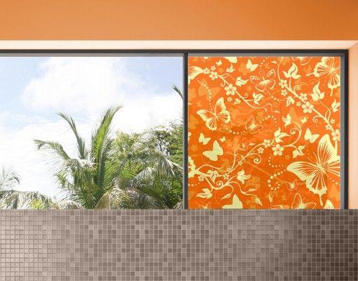 Fensterfolie - Sichtschutz Fenster Verzaubernde Schmetterlinge - Fensterbilder