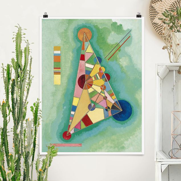 Poster - Wassily Kandinsky - Dreieck - Hochformat 3:4
