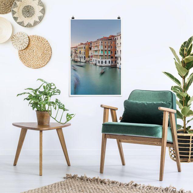 Poster - Canale Grande Blick von der Rialtobrücke Venedig - Hochformat 3:2