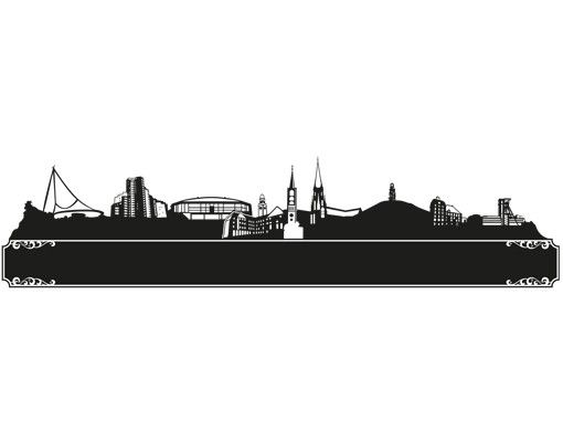 Wandtattoo Kreidetafel No.MW68 Skyline Gelsenkirchen