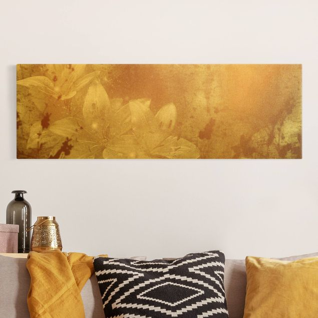 Leinwandbild Gold - Lilith - Panorama 3:1