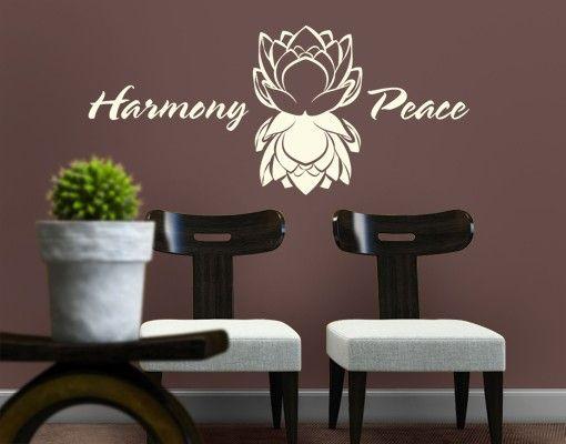Wandtattoo Sprüche - Wandworte No.EK106 Harmony and Peace