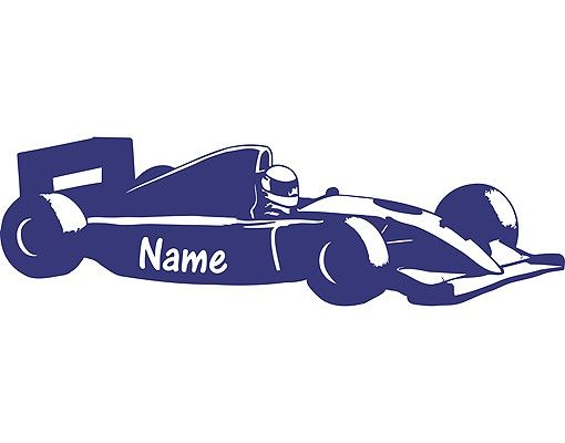 Wandtattoo Sprüche - Wandtattoo Namen No.RS95 Wunschtext Formel 1-Name