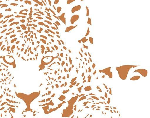 Wandtattoo Katze No.MW98 Lauernder Gepard