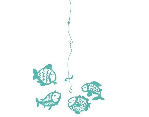 Wandtattoo Kinderzimmer Fische No.MW103 Vegetarische Fische