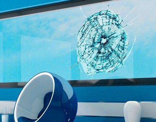 Fensterfolie - Fenstersticker No.445 Splitterndes Glas - Fensterbilder