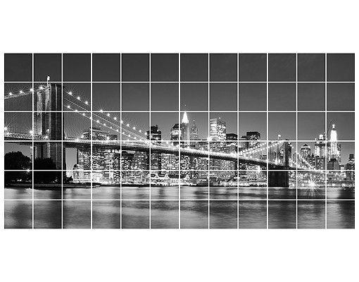 Fliesenbild - Nighttime Manhattan Bridge II