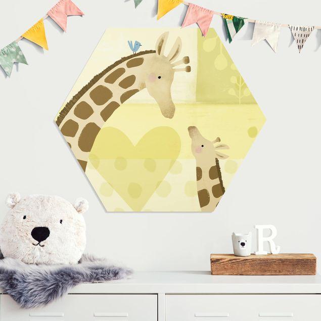 Hexagon Bild Forex - Mama und ich - Giraffen
