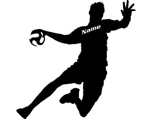 Wandtattoo Kinderzimmer No.RS114 Wunschtext Handball