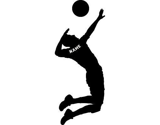 Wandtattoo Kinderzimmer No.RS124 Wunschtext Volleyball
