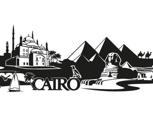 Stadt Cairo - Wandtattoo Skyline - No.FB82 Cairo Skyline XXL