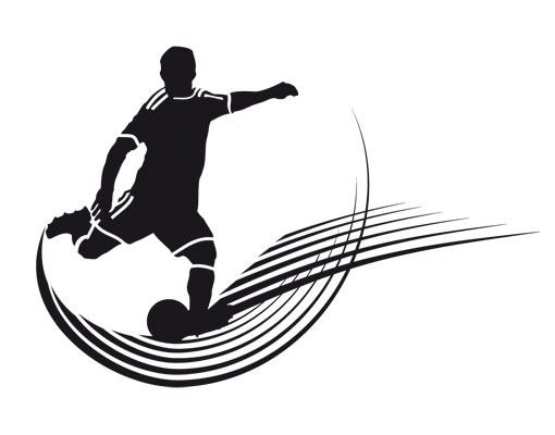 Wandtattoo Fußball - No.UL764 Spot Kick