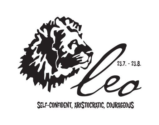 Wandtattoo Löwe No.UL756 Zodiac Sign Leo