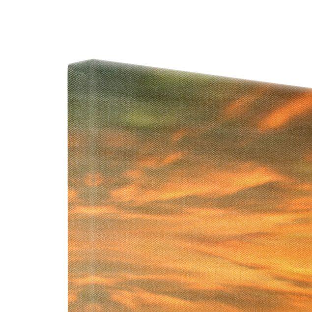 Leinwandbild Gold - Fischernetze - Quadrat 1:1