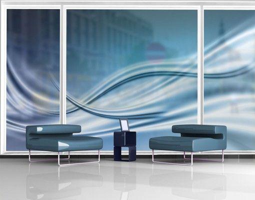 Fensterfolie - XXL Fensterbild Abstract Design - Fenster Sichtschutz