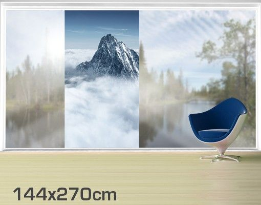 Alpen Fensterfolie Berge Winter Bayern Sichtschutz Fensterbild Qualitätsfolie
