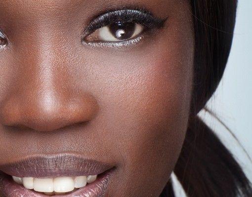 Fensterfolie - XXL Fensterbild Black Beauty Close Up - Fenster Sichtschutz