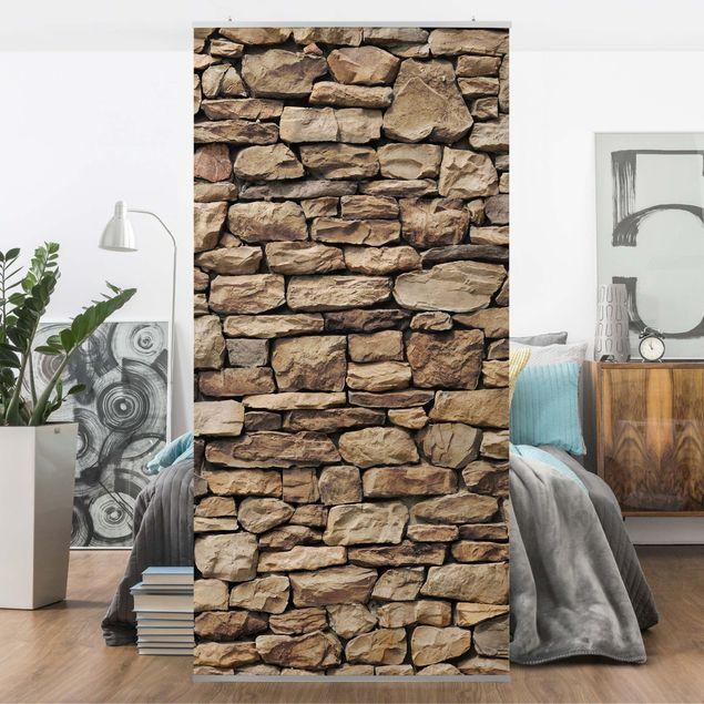 Raumteiler - Amerikanische Steinwand 250x120cm